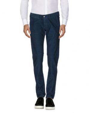 Повседневные брюки 2 MEN. Цвет: синий