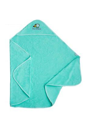 Полотенце с капюшоном Pecorella. Цвет: салатовый