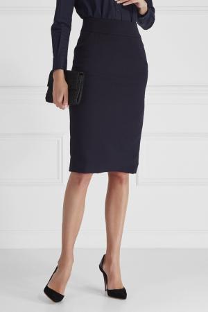 Однотонная юбка Cyrille Gassiline. Цвет: синий