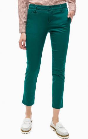 Укороченные брюки чиносы United Colors of Benetton. Цвет: бирюзовый