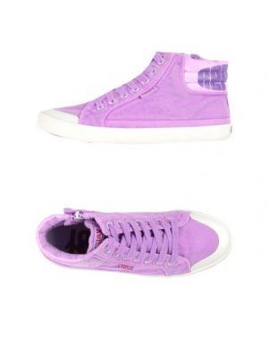 Высокие кеды и кроссовки REPLAY & SONS. Цвет: фиолетовый