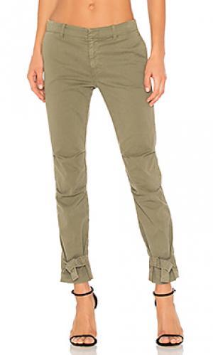 Узкие брюки bradley NILI LOTAN. Цвет: военный стиль