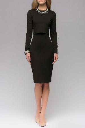 Комплект: платье, топ 1001dress. Цвет: черный