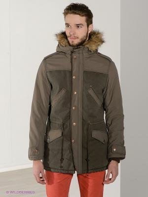 Куртка TIME OUT. Цвет: темно-бежевый, темно-серый