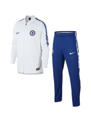 Спортивный костюм CFC Y NK DRY SQD TRK SUIT K Nike. Цвет: белый, синий