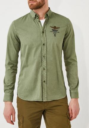 Рубашка Aeronautica Militare. Цвет: зеленый