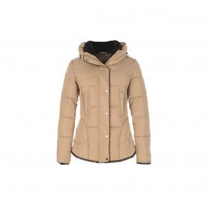 Куртка стеганая с капюшоном Faisceau, воротник из искусственного меха RENE DERHY. Цвет: бежевый