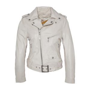 Куртка кожаная LCW 8600 SCHOTT. Цвет: белый,синий