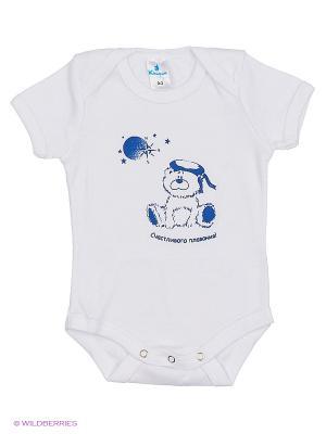 Пижама ясельная MN0101 01 цвет белый, медвежонок Квирит. Цвет: белый