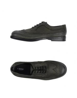 Обувь на шнурках CRIME LONDON. Цвет: зеленый-милитари