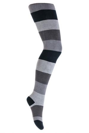 Колготки PlayToday. Цвет: серый, темно-серый, черный