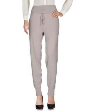 Повседневные брюки LA FÉE PARISIENNE. Цвет: светло-серый