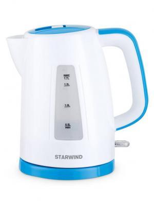 Чайник Starwind SKP3541, белый/голубой. Цвет: белый