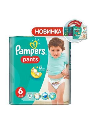 Трусики Pants 16кг+, размер 6, 19 шт. Pampers. Цвет: зеленый