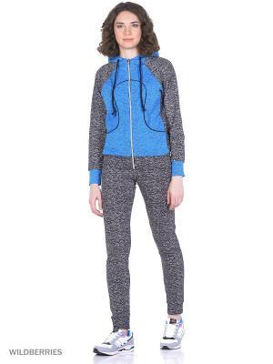 Костюм спортивный женский(джемпер, брюки) MARSOFINA. Цвет: голубой, серый