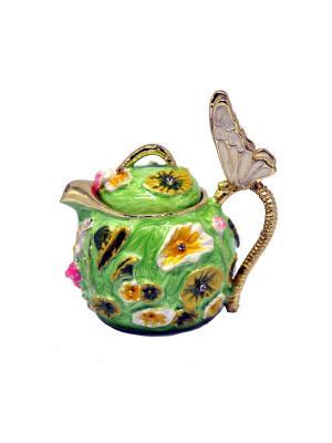 Шкатулка Чайник Yen Ten. Цвет: салатовый