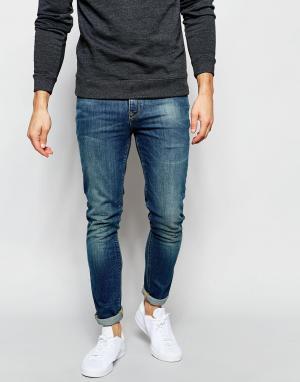 ASOS Голубые супероблегающие джинсы скинни. Цвет: синий