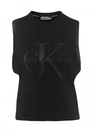 Майка Calvin Klein Jeans. Цвет: черный
