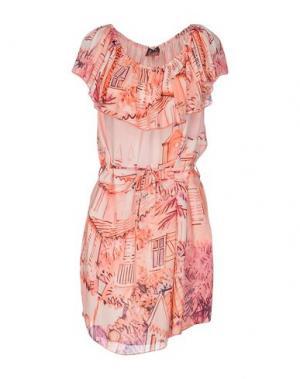 Короткое платье AU SOLEIL DE SAINT TROPEZ. Цвет: коралловый