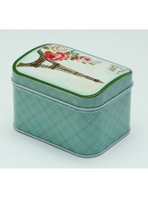 Коробка для безделушек и мелочей Букет из Парижа Magic Home. Цвет: зеленый