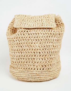 Buji Baja Рюкзак из рафии. Цвет: естественный