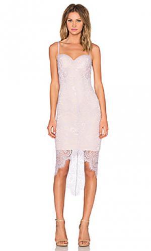 Платье ally Elle Zeitoune. Цвет: бледно-лиловый