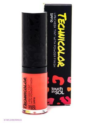 Тинт для губ и щек с пудровым эффектом SPF10, оттенок 5, Passion Orange Touch in sol. Цвет: оранжевый, темно-синий