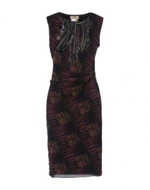 Платье до колена FUZZI. Цвет: фиолетовый