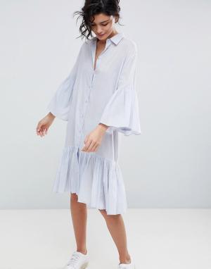 2nd Day Хлопковое платье-рубашка 2NDDAY. Цвет: синий