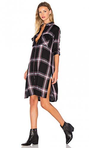 Платье dawson Rails. Цвет: black & white