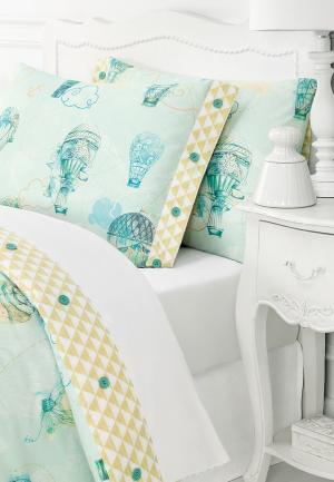 Комплект постельного белья 1,5-спальный Togas. Цвет: мятный