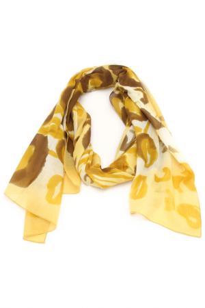 Шарф F.FRANTELLI. Цвет: желтый, коричневый