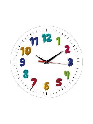 Часы настенные Miolla. Цвет: белый, голубой, желтый, зеленый