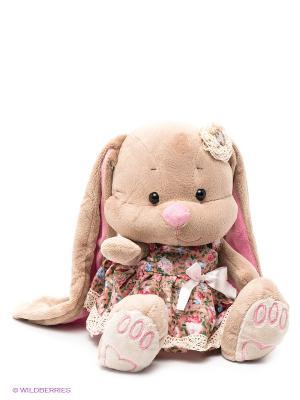 Зайка Лин в летнем платье с цветочком на голове MAXITOYS. Цвет: бежевый