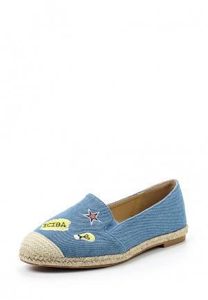 Эспадрильи Sweet Shoes. Цвет: голубой