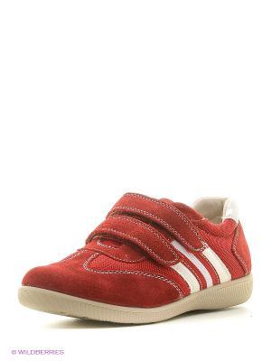 Кроссовки на липучках San Marko. Цвет: красный
