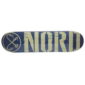 Дека для скейтборда  Logo Blue/Beige 31.75 x 8 (20.3 см) Nord. Цвет: синий,бежевый