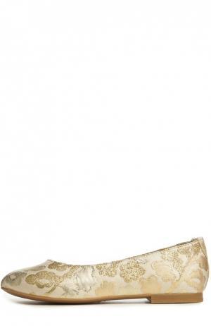 Балетки Dolce & Gabbana. Цвет: золотой