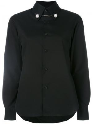 Рубашка с фигурным вырезом Comme Des Garçons Noir Kei Ninomiya. Цвет: чёрный