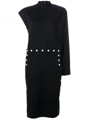Асимметричное платье Hyke. Цвет: синий
