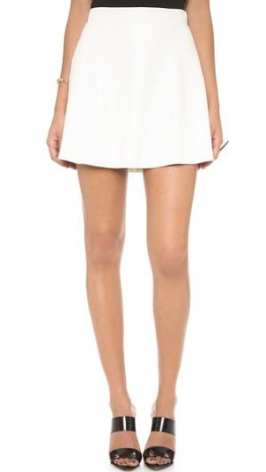 Перфорированная юбка New Bowery David Lerner. Цвет: белый