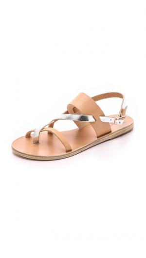 Сандалии Alethea Ancient Greek Sandals. Цвет: светлый беж/серебристый