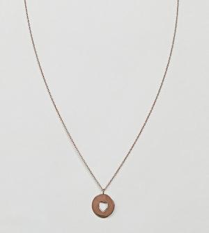 ASOS Ожерелье из позолоченного серебра. Цвет: медный