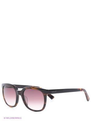 Очки солнцезащитные Replay. Цвет: коричневый
