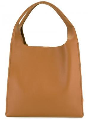 Структурированная сумка-тоут Maison Margiela. Цвет: коричневый
