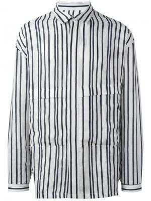 Рубашка в полоску Parker E. Tautz. Цвет: белый