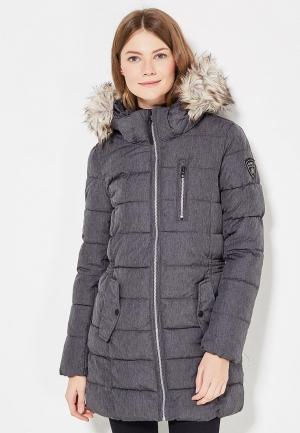 Куртка утепленная Only. Цвет: серый