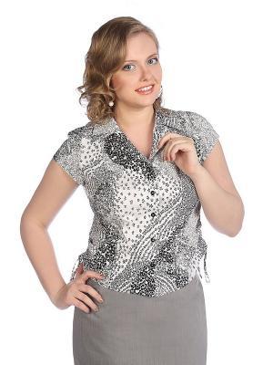 Блузка VENUSITA. Цвет: белый, черный
