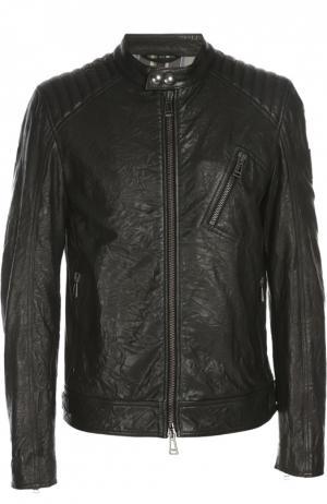 Кожаная куртка Belstaff. Цвет: черный
