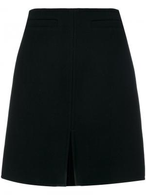 Классическая А-образная юбка Courrèges. Цвет: чёрный